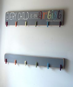 Extra Brag Board To Go With Every Child Is An Artist Wood Sign Art Display