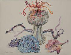 art drawing pencil Natur Stillleben mit Buntstiften auf Hahnemühle Antik Ingres (c) Zeichnung von Susanne Haun
