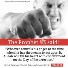 Dear Muslims, please try to control your anger and remain silent........it surely is difficult, but its rewards are lovely <3