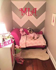 puppy room design idea 52 ~ Home Design Ideas Animal Room, Dog Closet, Dog Room Decor, Dog Bedroom, Bedroom Furniture, Puppy Room, Dog Corner, Small Corner, Dog Spaces