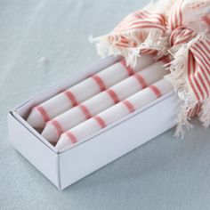 Susie Watson - Candles - Rose Thin Stripe (box of Susie Watson, English Interior, Rose Candle, French Country House, Country Furniture, Other Accessories, Gifts For Her, Candle Holders, Hand Painted