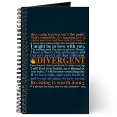 Divergent Quotes Journal on CafePress.com