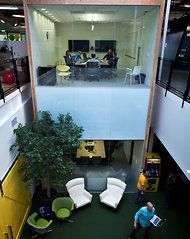 At the Google offices in Mountain View, Calif., a group of employees gathered in a conference room overlooking other office space. Google provides resources — infrastructure, money, time and people — but most important, a vision that tests most entrepreneurs to think bigger than they ever have before. We believe in big bets, and in high-risk and high-reward projects such as driverless cars and Android. By encouraging people to think bigger, we often achieve far more than what we initially imagin