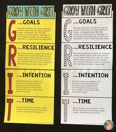 Grow with Grit: Free resources for your classroom. Teach students that grit is the action behind their belief in a growth mindset. Growth Mindset Classroom, Growth Mindset Activities, Growth Mindset Posters, Growth Mindset Lessons, Teaching Grit, Teaching Ideas, Fixed Mindset, Habits Of Mind, 7 Habits