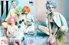 the march 2012 w korea issue features cotton candy coloured tresses