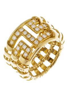 Versace 18k Gold Ring