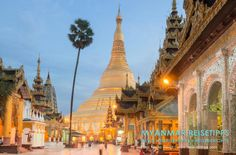 MYANMAR Reisetipps: YANGON | Hier bekommst du die besten Insidertipps für deine Reise nach Yangon in Myanmar: Hotels, Gästehäuser, Kosten, Anreise, Karten, Maps, Restaurants, Eintrittspreise, Reiseberichte uvm. www.MyanmarBurmaBirma.com | Shwedagon-Pagode am Abend