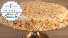 Τούρτα αμυγδάλου με μπισκότα Cereal, Oatmeal, Sweets, Cookies, Baking, Breakfast, Recipes, Food, The Oatmeal