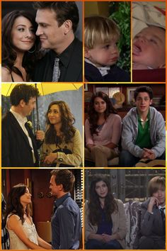 Lily&Marshall: Marvin&Daisy Tracy&Ted: Luke&Penny Robin&Barney: Imaginary kids SPOILERS***** Even though Robin can't have kids and her and Barney spilt in the finale, I'm going to pretend that they actually had these kids and are still together. I'm also pretending that Tracy never died.