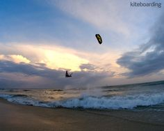This is one of my favourite kiteboarding pictures because it shows multiple sports all sharing the same space.