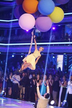 Sadie Robertson floats away at the end of her dance with Mark Ballas - Dancing With the Stars - Season 19 - week 3 Movie Night - 9/29/2014