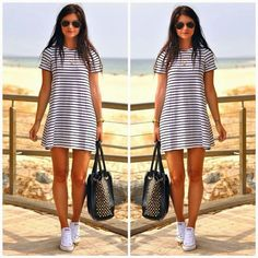 How to Chic: STRIPED DRESS