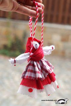 Rag doll – Baba Marta (Iva's Creations) Diy Rag Dolls, Yarn Dolls, County Fair Crafts, Baba Marta, Fun Crafts, Crafts For Kids, International Craft, Spool Knitting, Clothes Pegs