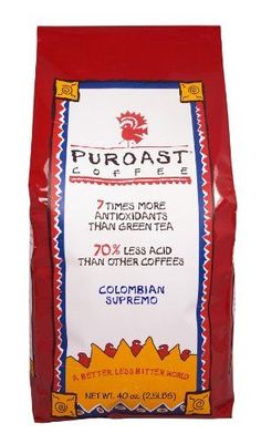 Puroast Low Acid Coffee Colombian Supremo Blend Whole Bean 25 Pound Bag *** Find out more about the great product at the image link.