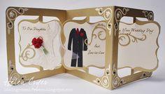 Accordion Album Wedding Card