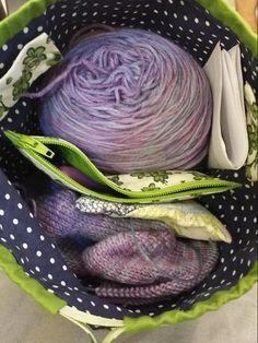 Little Green Birds Sock Sack | Craftsy