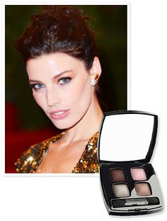 To give her look the Midas touch, #JessicaPare's makeup artist Amy Nadine used #Chanel's Quadra Eye Shadow in Eclosion. http://news.instyle.com/2012/06/11/mad-men-jessica-pare-gold-eye-shadow/#