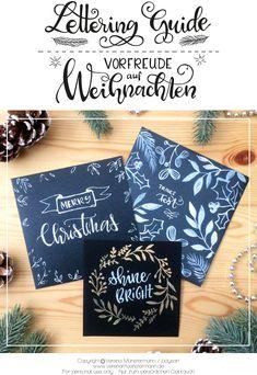 Lettering Guide - Vorfreude auf Weihnachten zum Download