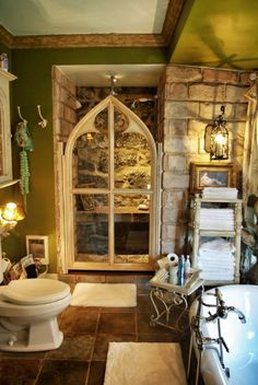 It looks like its from a fairy tale And outside would be a pretty garden where faeries lived and glowed brightl Gothic home decor Gothic bathroom Gothic house