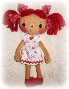 *PDF DOLL PATTERN ~ Rag Doll Pattern, Cloth Doll Pattern, Sewing Pattern, ePattern.