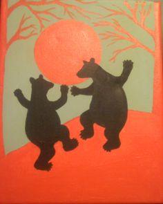 Dancing Bears Rug Inspiration, Creative Inspiration, Ursa Minor, Dancing Animals, Bear Attack, Bear Illustration, Love Bear, Forest Friends, Bear Art