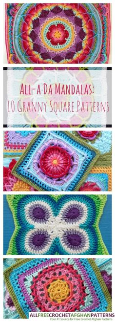 All-a Da Mandalas: 10 Granny Square Patterns | Cheap Eats and Thrifty Crafts