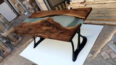Epoxy Resin Table, Walnut Table, Table Dimensions, Frosted Glass, Outdoor Furniture, Outdoor Decor, Just For You, It Is Finished, Awesome
