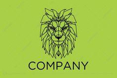 Logo for sale: Geometric Lion Logo