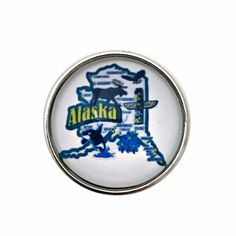Alaska State Snap 20mm for Snap Charm Jewelry