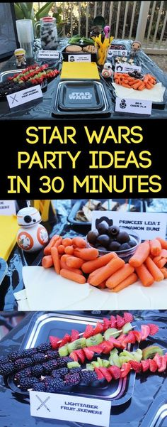 Star Wars eParty Ideas that you can do within 30 minutes! All healthy eating items