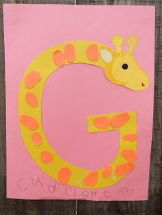 Need and adorable project to learn the letter G? This is a sure winner! Chipman's Corner Preschool
