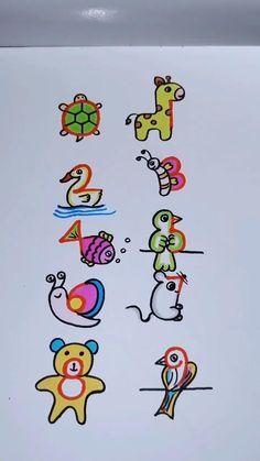 Easy Drawings For Kids, Art Drawings Sketches Simple, Drawing For Kids, Cute Drawings, Cute Easy Doodles, Easy Doodle Art, Rocket Drawing, Hand Art Kids, Kids Art Galleries