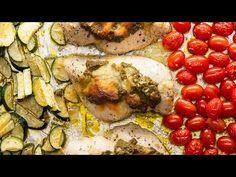 One-Pan Pesto Chicken With Veggies - YouTube