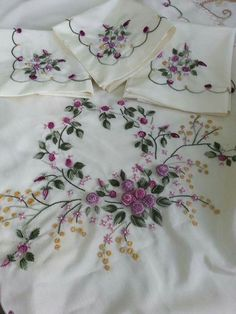 Embroidered linens ...even pap |