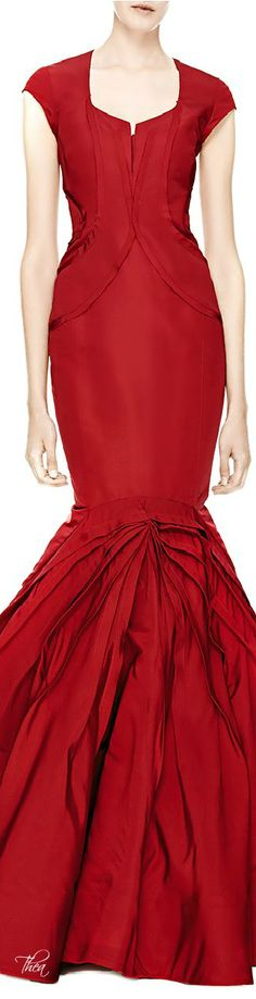 Zac Posen ● FW 2014, Paneled Silk-Faille Gown     jaglady WWW.MADAMEBRIDAL.COM
