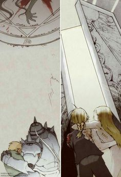 Edward Elric and Alphonse Elric - Fullmetal Alchemist Fullmetal Alchemist Brotherhood, Fullmetal Alchemist Edward, Full Metal Alchemist, Der Alchemist, Edward Elric, Manga Anime, Anime Art, Transmutation, Elric Brothers