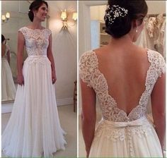 Bohemian wedding dress Beach Bridal Gown sexy by Juliethoneybridal