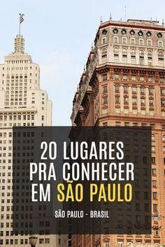 20 lugares pra conhecer em São Paulo - Brasil Places Around The World, Around The Worlds, Paradise Places, Sao Paulo Brazil, Brazil Travel, Travel Around, Album, Travel Inspiration, Travel Destinations