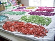 20,000 buttons drying