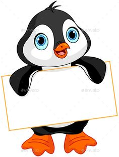 Buy Penguin Sign by Dazdraperma on GraphicRiver. Cute Penguin holds a sign. Animals Name In English, Penguin Baby Showers, Teacher Classroom Decorations, Penguin Drawing, Bird Coloring Pages, Colouring, Boarders And Frames, Page Borders Design, Birthday Charts