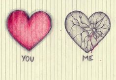 I want you to draw the broken heart but only the broken one and much larger for my birthday. Sad Drawings, Drawing Sketches, Pencil Drawings, Sad Sketches, Sketching, Broken Heart Drawings, Broken Heart Art, Cool Heart Drawings, Broken Heart Tattoo