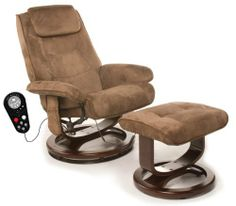 Relaxzen 60-078011 Leisure Massage Reclining Chair with Heat In Microsuede, Brown by Relaxzen. $299.99. Soothing heat treatment in lumbar area. Features swivel, recline and recline tension adjustment. 8 vibration massage motors to relax the upper back, mid back, thighs and calves. Luxurious thick, chocolate brown padded microsuede upholstery with a wood base for the utmost comfort. Choose independent massage zones, 9 pre-programmed random modes and 5 intensity le...