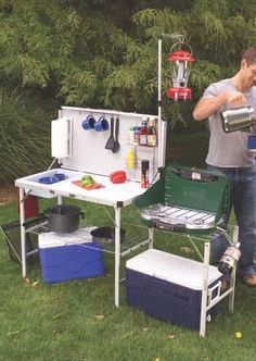 You can literally take the kitchen sink to the campsite – and the rest of the tools to make cooking easy – with a Coleman® Pack-Away® Deluxe Kitchen. It's the ultimate in outdoor food prep.