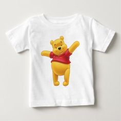 Winnie the Pooh 1 Baby T-Shirt. Perfect gifts for the favorite silly bear fan. Everybody's lovable Disney Winnie the Pooh merchandise are available online. Winnie The Pooh Friends, Disney Winnie The Pooh, Baby Disney, Disney Disney, Disney Baby Clothes, Disney Outfits, Disney Shoes, Mommy To Bee, Pooh Bear