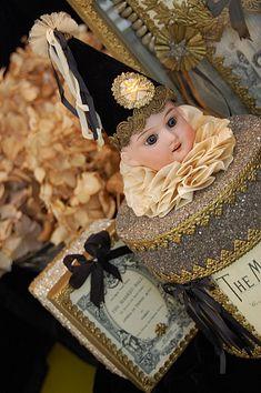 antique doll head box, adorable!!