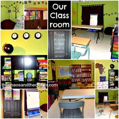 Our Classroom - includes organizational ideas