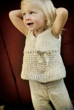 Cotton and Linen tank for little girls