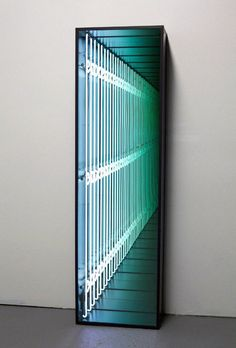 Find the latest shows, biography, and artworks for sale by Iván Navarro. Recognized for his suggestive use of fluorescent lights, Iván Navarro makes works ri… Light Art Installation, Licht Box, Infinity Mirror, Infinity Lights, Decoration Chic, Table Design, Light And Space, Home And Deco, Art Furniture