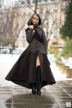 Russian model street style fashion week