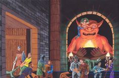 1st Edition Advanced Dungeons and Dragons Cover Art without Text ** Trampier artwork, reinterpreted by Kevin Mayle